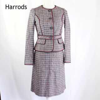 ハロッズ(Harrods)のハロッズ★コットン ツイード セットアップスーツ フォーマル 1(S)(スーツ)