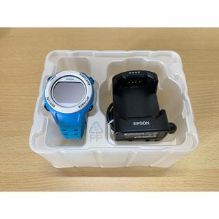 エプソン(EPSON)のEPSON★SF-110C★腕時計★ GPSウォッチ ★カリビアンブルー(腕時計(デジタル))
