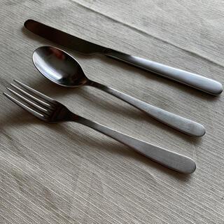 ムジルシリョウヒン(MUJI (無印良品))の無印良品 フォークスプーンナイフ各2本の6本セット中古品(カトラリー/箸)