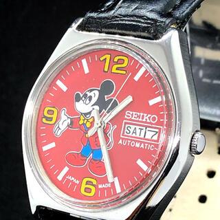 セイコー(SEIKO)の【お洒落】SEIKO/ミッキーマウス/メンズ腕時計/レッド/赤色/大人気(腕時計(アナログ))
