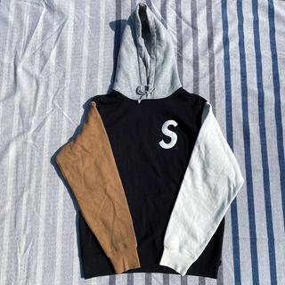Supreme - S Logo Color blocked Hooded Sweatshirt