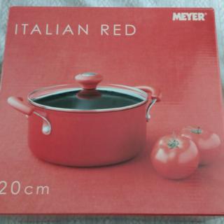 マイヤー(MEYER)のマイヤー イタリアンレッド両手鍋20cm 新品【MIR-W20】(鍋/フライパン)