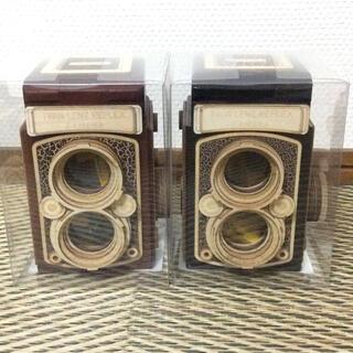 カルディ(KALDI)のカルディ レフレックス カメラ 木箱 セット(菓子/デザート)