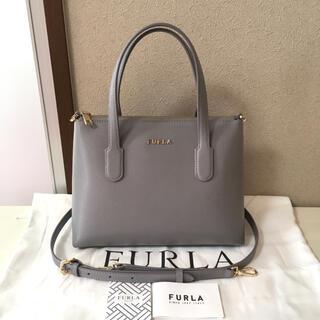 Furla - フルラ 2way ショルダーバッグ トートバッグ ハンドバッグ ライトグレー