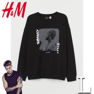 H&M - 【本日消去】H&M × ジャスティンビーバー スウェット L