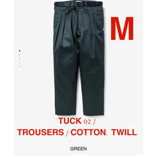 W)taps - TUCK 02 / TROUSERS / COTTON. TWILL GREEN