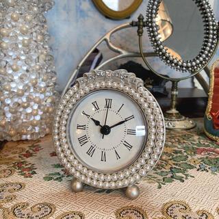 アンティーク調/ シックでエレガントな置き時計⑧/Pearl/ テーブルクロック