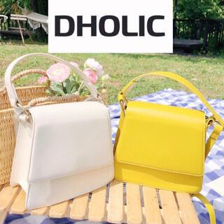 dholic - 新品タグ付き 2way台形バッグ ショルダーバッグ  アイボリー ディーホリック