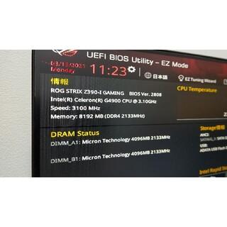 ASUS - 美品 ASUS ROG STRIX Z390-I GAMING BIOS更新済み