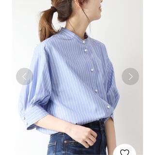 Spick and Span - スピックアンドスパン パールボタンギャザースリーブシャツ 新品タグ付き