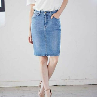 リー(Lee)のLee デニムスカート(ひざ丈スカート)