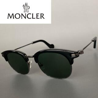 MONCLER - モンクレール ブラック クローム サングラス グレー サーモントブロー