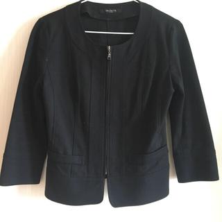VICKY - プレミアムバイビッキー  黒ノーカラージャケット ブルゾン