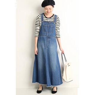 IENA SLOBE - 【匿名配送】SLOBE IENA デニム ボリューム フレアジャンパースカート