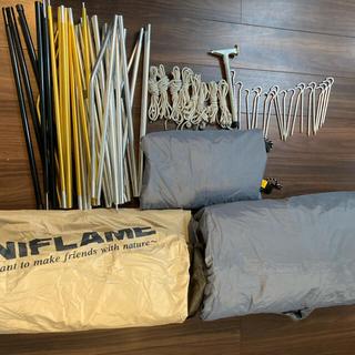 UNIFLAME - ユニフレームLEVOドーム5、LEVOタープL、LEVOフラップ