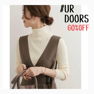 DOORS / URBAN RESEARCH - ★新品未使用タグ付き★UR DOORS*ストレッチリブタートルネックニット