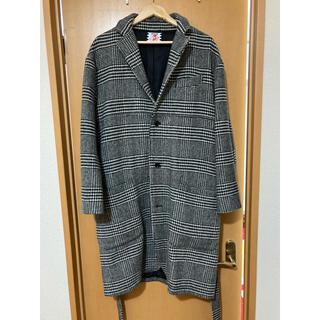 ビームス(BEAMS)のSON OF THE CHEESE / check gown coat サイズL(ステンカラーコート)