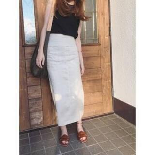 Mila Owen - ミラオーウェン  リネンタイトスカート