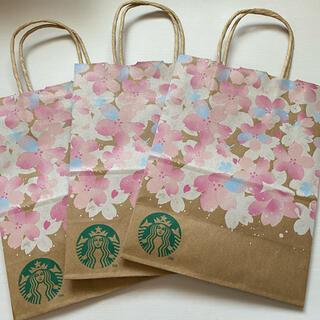Starbucks Coffee - 美品 Starbucks Coffee 紙袋(サクラ/桜) スタバ