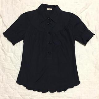 miumiu - miumiu 半袖シャツ 紺色 40