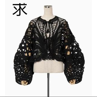 マメ(mame)のCording Embroidery Short Jacket - black(その他)