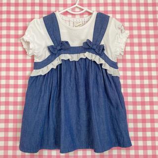 クーラクール(coeur a coeur)の売切れ⭐️クーラクール チュニック ネイビーブルー 95(Tシャツ/カットソー)