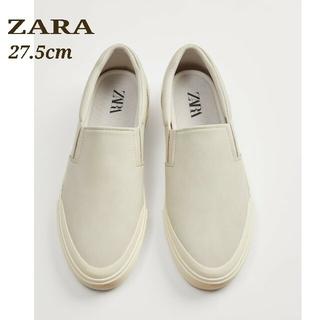 ZARA - ZARA ザラ スリッポン メンズ スニーカー ステッチ グレー 27.5cm