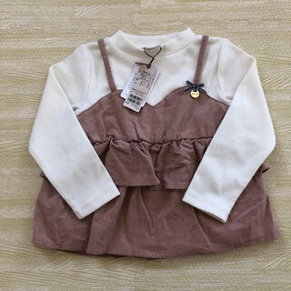 プティマイン(petit main)の「新品」コーデュロイキャミドッキングTシャツ(Tシャツ/カットソー)