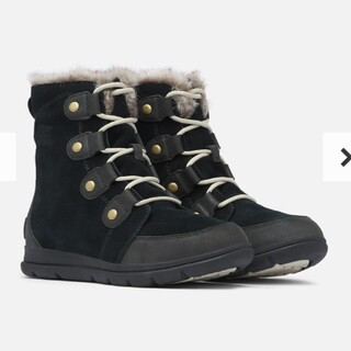 ソレル(SOREL)のソレル エクスプローラー ジョアン sorel ブーツ 黒 23cm(ブーツ)