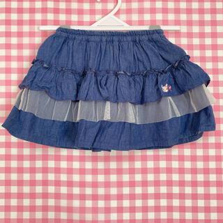 クーラクール(coeur a coeur)のクーラクール ブルマ付スカート ネイビーブルー 95(パンツ/スパッツ)