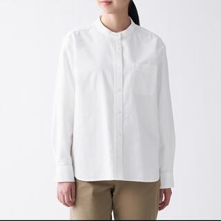 MUJI (無印良品) - 洗いざらしオックススタンドカラーシャツ 婦人M・白