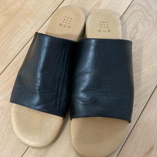 YAECA - que shoes サンダル ブラック 25cm