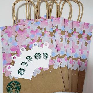 Starbucks Coffee - 5枚 スターバックス SAKURA 2021 紙袋 ショップ