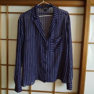 モンキ(Monki)のMONKI  ストライプシアーシャツ(シャツ/ブラウス(長袖/七分))