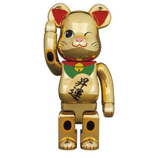 メディコムトイ(MEDICOM TOY)の【新品未開封】5体× BE@RBRICK 招き猫 昇運 弐 金メッキ 400%(フィギュア)