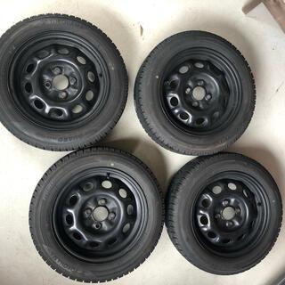 日産 - 日産ラシーン、鉄ちんホイール付きスタッドレスタイヤ4本