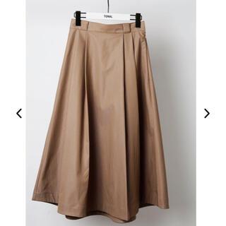 TONAL シャンブレースカート(ひざ丈スカート)