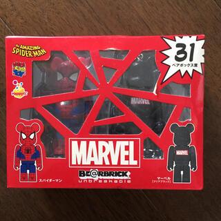 マーベル(MARVEL)のBE@RBRICK ベアブリック スパイダーマン マーベルクリアブラック(アメコミ)
