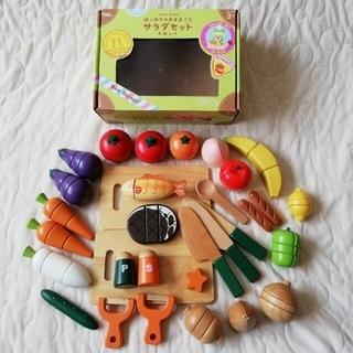 ウッディプッディ おままごとお野菜セット①+数点 木の玩具 旧タイプ