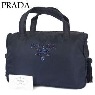 PRADA - プラダ テスート ナイロン ビーズ タッセル フリンジ ミニ ハンド バッグ