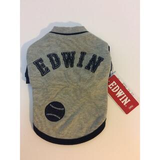 エドウィン(EDWIN)の犬 服 小型犬用 EDWIN エドウィン ベースボールスウェット S グレー(犬)