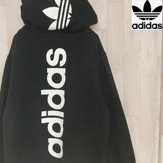 adidas - 【希少サイズ】adidas アディダス バックロゴプリント 海外限定パーカー
