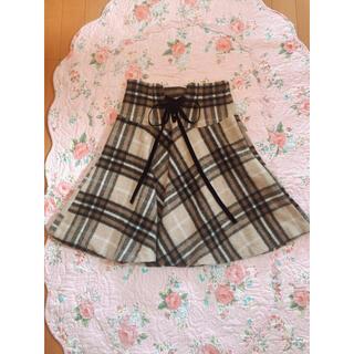 リランドチュール(Rirandture)の♡チェック柄バックリボンスカート♡(ひざ丈スカート)