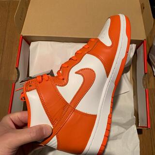 ナイキ(NIKE)のNike dunk HI orange blaze 27 US9(スニーカー)