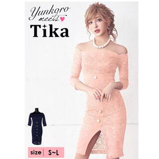 dazzy store - Tika総レースタイトミディアムドレス