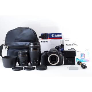 Canon - 人気 Canon kiss x7i☆1800万画素 標準&望遠レンズセット