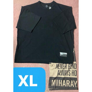 ミハラヤスヒロ(MIHARAYASUHIRO)の新品 GU ミハラヤスヒロ Tシャツ バンダナ ドッキング 黒 レイヤード(Tシャツ/カットソー(半袖/袖なし))