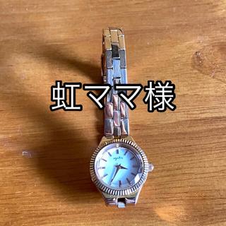 アガット(agete)の【送料込】agate ドレスウォッチ ピンクゴールド 保証書付(腕時計)