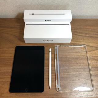 iPad - 【美品】iPad mini5(SIMフリー)ApplePencil+ケース付き!