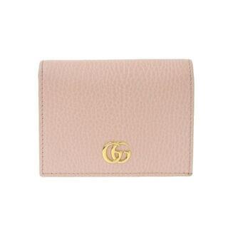 Gucci - グッチ プチマーモント 二つ折り財布 レザー ライトピンク 456126